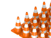 Traffic cone for use roads. Traffic cone for all roads Stock Photos
