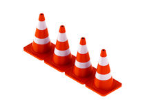 Traffic cone for use roads. Traffic cone for all roads Royalty Free Stock Photography