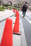Traffic cone used in road. Stock Photography