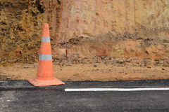 Traffic cone used in street. Royalty Free Stock Image