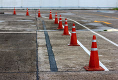 Traffic cone used in street Stock Images