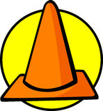 traffic cone vector illustration Royalty Free Stock Images