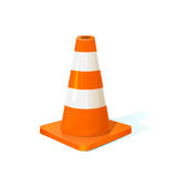 Traffic cone, vector illustration Royalty Free Stock Photography