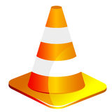 Traffic cone on white background stock photography