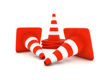 Traffic cone. On the white background vector illustration