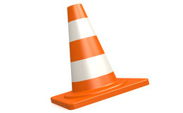 Traffic cone in white and isolated background Stock Photos