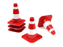 Traffic cones. Isolated on white background royalty free illustration