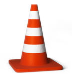 Traffic cones. 3d image. Isolated white background Stock Photos