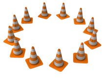 Traffic cones Royalty Free Stock Photography
