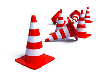 Traffic Cones 2 Stock Photo