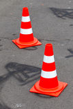 Traffic cones Stock Images
