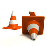 Traffic cones. Rendered traffic Cones isolated on white background Royalty Free Stock Image
