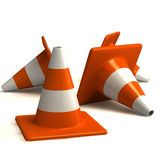 Traffic cones. Rendered traffic Cones isolated on white background Stock Photos