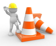 Traffic cones. Stock Photos