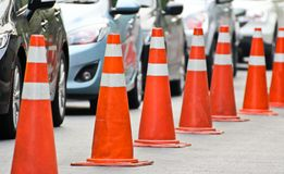 Traffic cones. For background in design work Stock Photography
