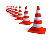 Traffic Cones 3 Stock Photography