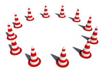 Traffic cones 3d cg Royalty Free Stock Image