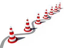 Traffic cones 3d cg Royalty Free Stock Image