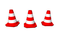 Traffic cones. Traffic / safety cones in orange-white royalty free illustration