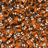 Traffic cones background Stock Images