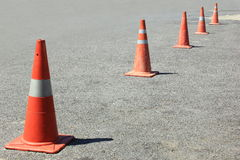 Traffic cones background Royalty Free Stock Image