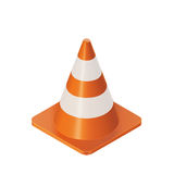 Traffic Cones Barrier. Vector Color Isometric Illustration  Of Orange Traffic Cones Barrier Stock Images