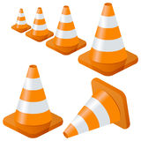 Traffic Cones Collection royalty free illustration