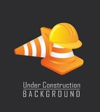 Traffic cones with helmet Stock Images