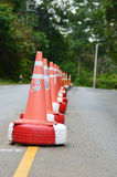 Traffic cones. On highway road Stock Image