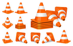 Traffic cones icon Royalty Free Stock Image