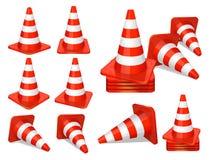 Traffic cones icon Royalty Free Stock Photo