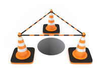 Traffic cones. Isolated on white background. Clipping path available Stock Image