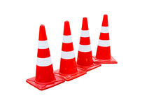 Traffic cones isolated on white. Royalty Free Stock Image