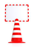 Traffic Cones Message Board Stock Photos