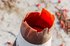 Traffic cones old Stock Image