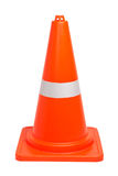 Traffic cones. An orange road hazard cone, isolated on a white background Royalty Free Stock Photography
