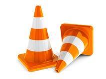 Traffic cones #3 Royalty Free Stock Photos