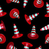 Traffic cones pattern Stock Images