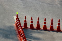 Traffic cones pattern Royalty Free Stock Image