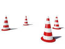 Traffic cones road 3d cg Stock Photos
