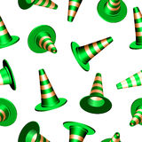Traffic cones texture Stock Photography