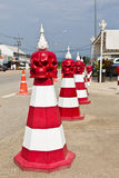 Traffic cones, Thailand. Stock Photo