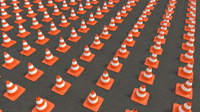 Traffic cones tracking stock video