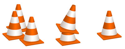 Traffic Cones Vectors Royalty Free Stock Image