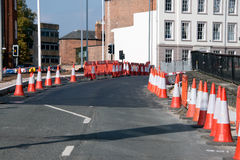 Traffic Cones. Warn drivers of road works ahead Royalty Free Stock Images