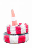 Traffic cones  on white background Royalty Free Stock Image