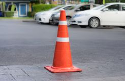 Traffic Cones or witches hat on road. royalty free stock images