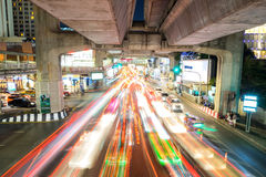 Traffic congested car light in Bangkok, Thailand Stock Photography