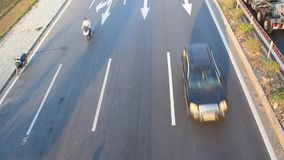 Traffic congestion by accidents stock footage