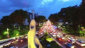 Traffic congestion stock video
